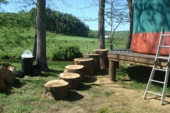 16ft yurt with steps