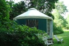 16ft yurt by creek