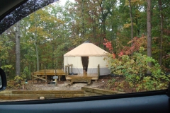 20ft yurts going in at Cloudland Canyon SP Georgia