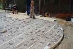 24ft yurt deck