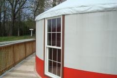 24ft yurt with floor to ceiling windows