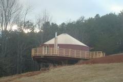 30ft yurt with nice deck