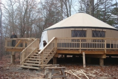 30ft yurt with side by side windows