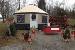 Christmas display yurt
