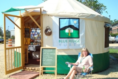 Blue Ridge Yurt display yurt