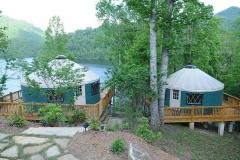 Yurts on Claytor Lake